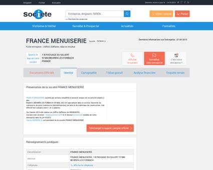 FRANCE MENUISERIE (BEHREN LES FORBACH)...