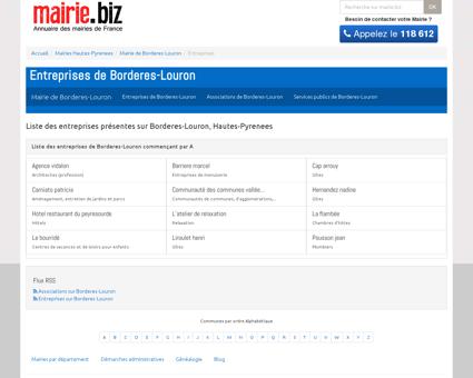 Entreprises de Borderes-Louron, Hautes...