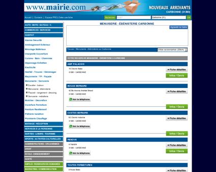 Menuiserie - ébénisterie Carbonne : Mairie.com