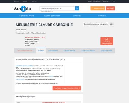 MENUISERIE CLAUDE CARBONNE (PRADES)...