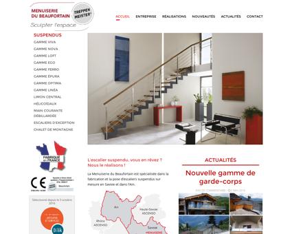 Escaliers suspendus Savoie - Menuiserie du...