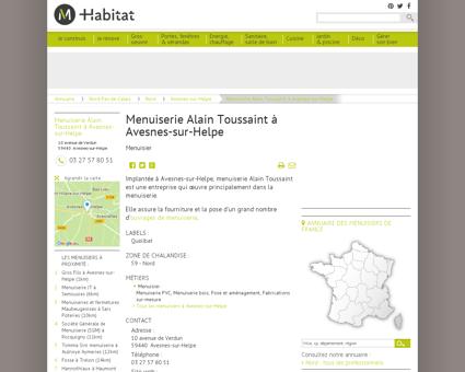 Menuiserie Alain Toussaint à Avesnes-sur...