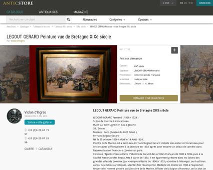 LEGOUT GERARD Peinture vue de Bretagne...