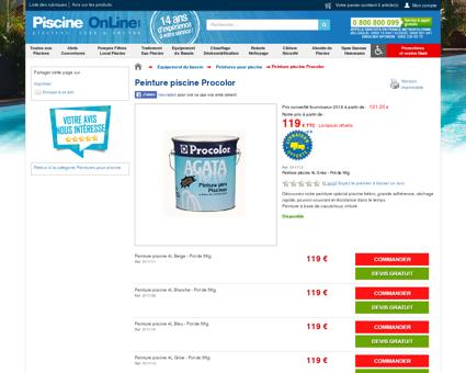 Peinture pour piscine béton à prix discount