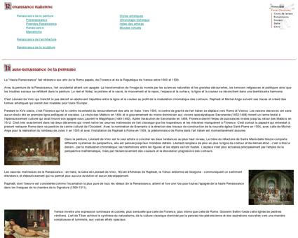 Haute-Renaissance de la peinture - Edelo :...