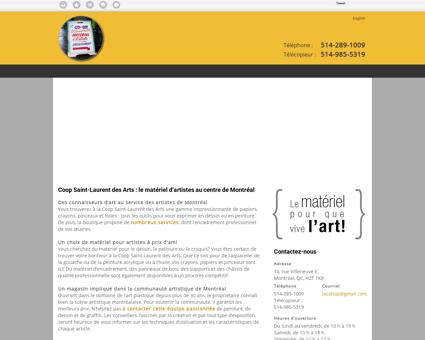 Coop Saint-Laurent des Arts | Matériel...