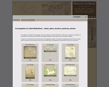 Saint-Barthélemy : cartes, dessins, peintures,...