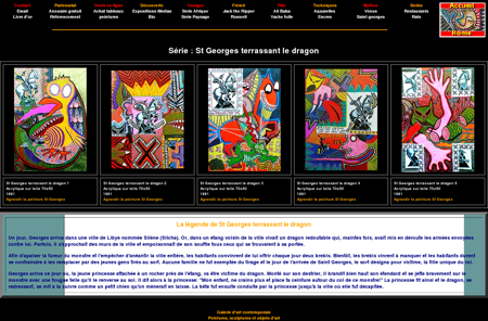 St Georges terrassant le dragon : peinture...