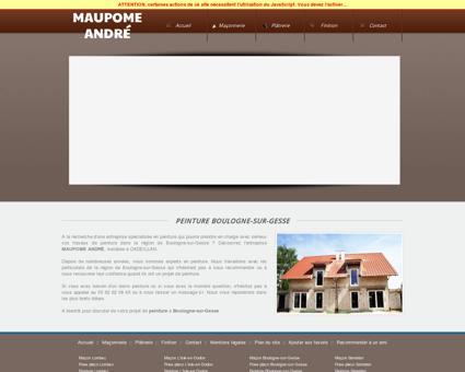maupome andré peinture Boulogne-sur-Gesse