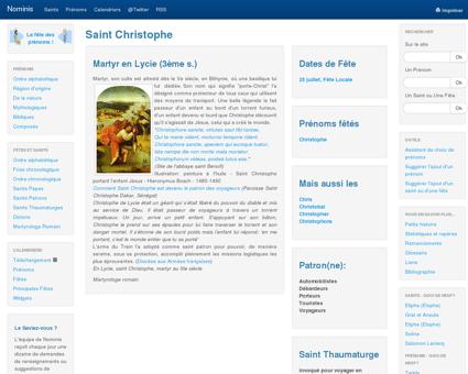 Saint Christophe - Nominis - Saints, Fêtes et...