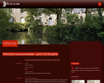 Peinture monumentale : saint Christophe -...