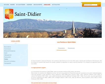 Les Peintres à Saint-Didier - Mairie de Saint -...