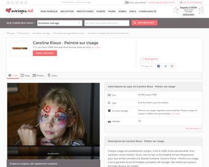 Caroline Rieux - Peintre sur visage