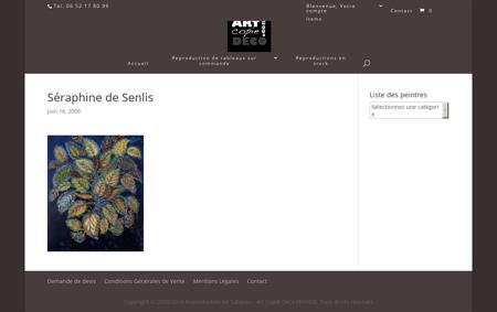 copie des peintures de Séraphine de Senlis