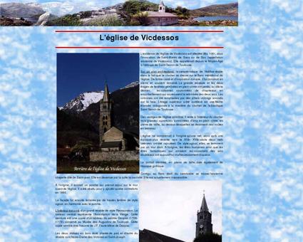 L'église de Vicdessos dans la haute vallée du...