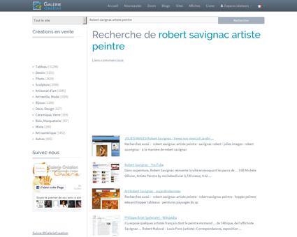 ROBERT SAVIGNAC ARTISTE PEINTRE, Galerie...