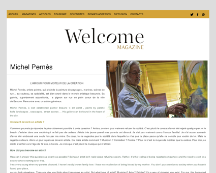Michel Pernès | Welcome Magazine