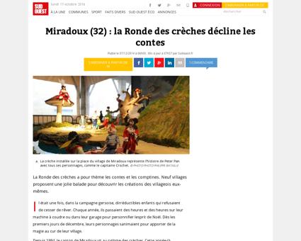 Miradoux (32) : la Ronde des crèches décline...