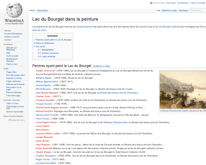 Lac du Bourget dans la peinture  Wikipédia