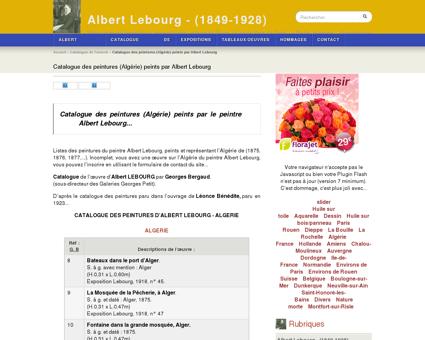 Catalogue des peintures (Algérie) peints par...