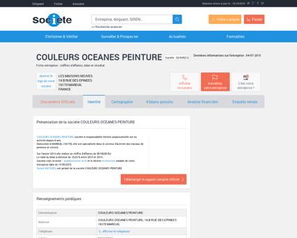 COULEURS OCEANES PEINTURE (MAREUIL)...