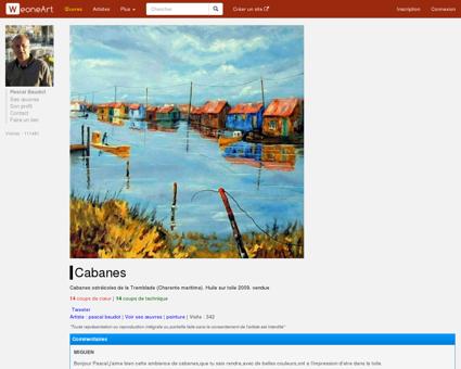 Peinture Cabanes - Galerie d'art virtuelle...
