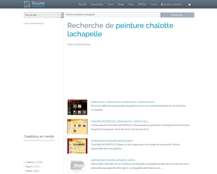 PEINTURE CHALOTTE LACHAPELLE, Galerie...