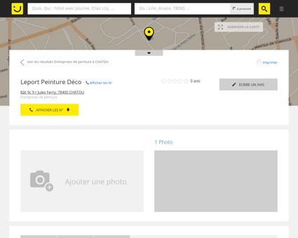 Leport Peinture Déco Chatou (adresse, horaires)