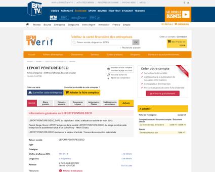 Société LEPORT PEINTURE-DECO à CHATOU...