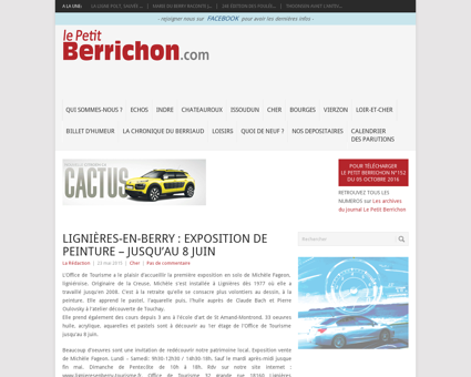 Lignières-en-Berry : Exposition de peinture ...
