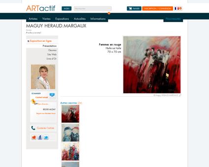 Artiste Maguy HERAUD.MARGAUX - Peintre -...