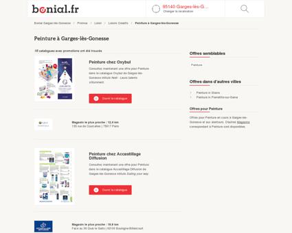 Offre Peinture pas cher à Garges-lès-Gonesse
