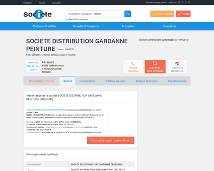 SOCIETE DISTRIBUTION GARDANNE...