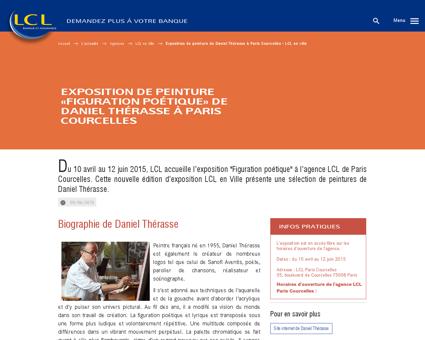 Exposition de peinture de Daniel Thérasse à...