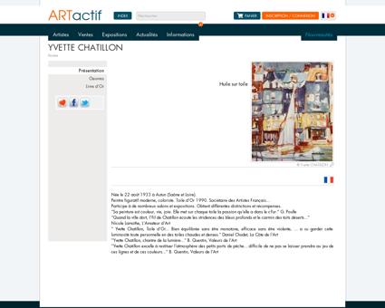 Artiste Yvette CHATILLON - Peintre - Huile sur...