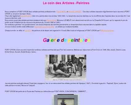Le coin des Artistes -Peintres - peintures