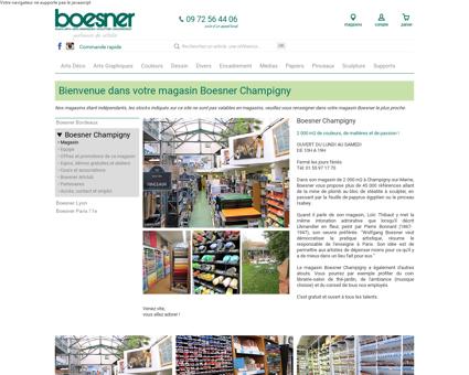 Bienvenue dans votre magasin Boesner...