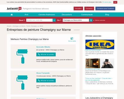 Entreprises de peinture Champigny sur Marne