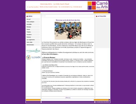 Site du Carré des Arts : Association Artistique...