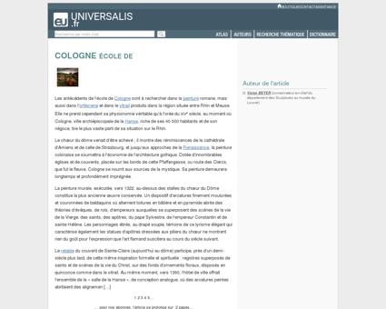 ÉCOLE DE COLOGNE - Encyclopædia Universalis