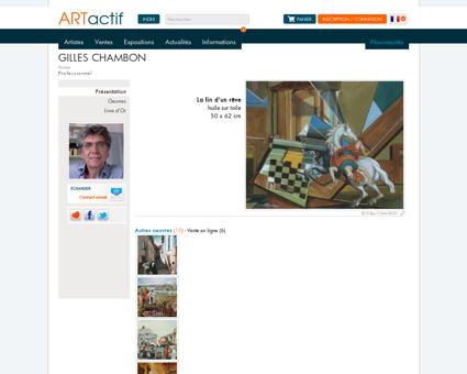 Artiste Gilles CHAMBON - Peintre - huile sur toile