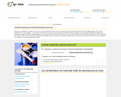 Peintre Bischwiller, Peinture Bischwiller 67240