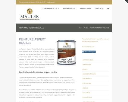 Peinture aspect rouille - MAULER - Produits...