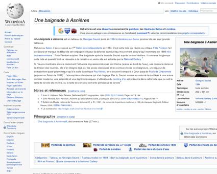 Une baignade à Asnières  Wikipédia