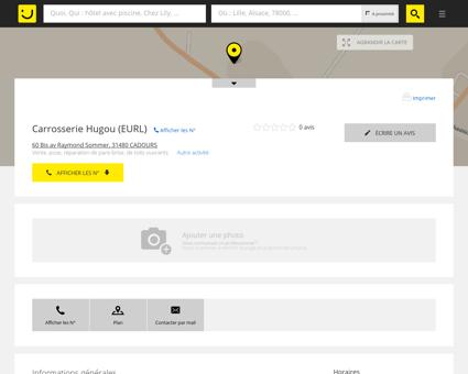 Carrosserie Hugou Cadours (adresse, horaires)