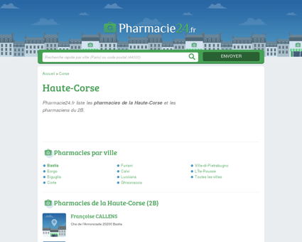 PHARMACIE HAUTE-CORSE (2B) -...