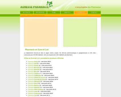 Pharmacie Eure-et-Loir dans le 28 en Centre,...
