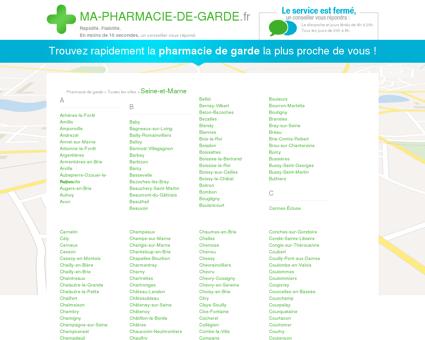 Pharmacies de garde dans le département 77 -...