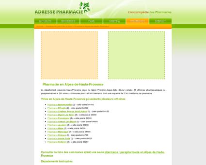 Pharmacie Alpes-de-Haute-Provence dans le...