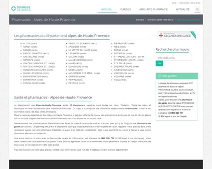 Pharmacie de garde - Alpes-de-Haute-Provence